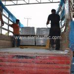 สีเทอร์โมพลาสติก มอก.542 – 2549 จำนวน 1,550 ถุง ส่งไปที่เมืองเมียวดี ประเทศพม่า