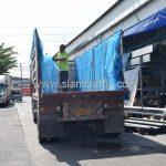 สีตีเส้นจราจรชนิดสีเทอร์โมพลาสติก จำนวน 1,550 ถุง ส่งไปที่เมืองเมียวดี ประเทศพม่า
