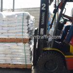 สีตีเส้นจราจร ทาถนน จำนวน 1,550 ถุง ส่งไปที่เมืองเมียวดี ประเทศพม่า