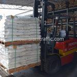 สีเทอร์โมพลาสติก สีขาว จำนวน 1,550 ถุง ส่งไปที่เมืองเมียวดี ประเทศพม่า