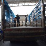 สีเทอร์โมพลาสติก จำนวน 1,550 ถุง ส่งไปที่เมืองเมียวดี ประเทศพม่า