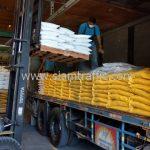 สี thermoplastic จำนวน 1,500 ถุง ส่งไปที่พนมเปญ ประเทศกัมพูชา