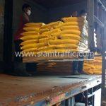 สีตีเส้นจราจร สีเหลือง ส่งไปที่พนมเปญ ประเทศกัมพูชา