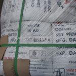สีเทอร์โมพลาสติก สีขาว จำนวน 1,000 ถุง ส่งไปที่เมืองเมียวดี ประเทศพม่า