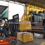 สีเส้นจราจร สีเหลือง จำนวน 2,700 ถุง ส่งไปที่เมืองเมียวดี ประเทศพม่า