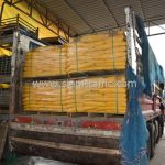 สีเทอร์โมพลาสติกสีเหลือง ส่งไปที่เมืองเมียวดี ประเทศพม่า