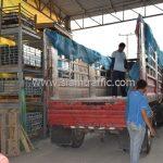 สีเทอร์โมพลาสติกสีเหลือง จำนวน 2,700 ถุง ส่งไปประเทศพม่า