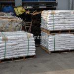 สีตีเส้นจราจร สีขาว จำนวน 1,000 ถุง ส่งไปที่เมืองเมียวดี ประเทศพม่า