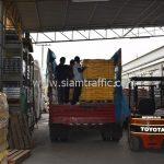 สี thermoplastic สีเหลือง จำนวน 2,700 ถุง ส่งไปที่เมืองเมียวดี ประเทศพม่า