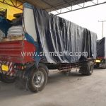 สีเทอร์โมพลาสติก ตีเส้นถนน จำนวนทั้งหมด 3,700 ถุง ส่งไปที่เมืองเมียวดี ประเทศพม่า