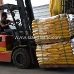สีเทอร์โมพลาสติก สีเหลือง จำนวน 2,700 ถุง ส่งไปที่ประเทศพม่า