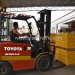 สีเทอร์โมพลาสติก สีเหลือง TRI-STAR (มอก.) จำนวน 2,700 ถุง ส่งไปที่ประเทศพม่า