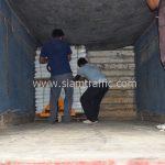 สีเทอร์โมพลาสติก ตีเส้นถนน สีขาว จำนวน 1,000 ถุง ส่งไปที่เมืองเมียวดี ประเทศพม่า