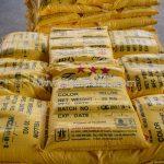 สีเทอร์โมพลาสติก สีเหลือง TRI-STAR จำนวน 2,700 ถุง ส่งไปที่เมืองเมียวดี ประเทศพม่า