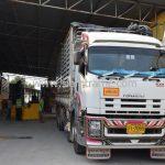 สีเทอร์โมพลาสติกสีเหลือง จำนวน 2,700 ถุง ส่งไปที่เมืองเมียวดี ประเทศพม่า