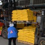 สีเทอร์โมพลาสติก จำนวน 2,700 ถุง ส่งไปที่เมืองเมียวดี ประเทศพม่า