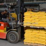 สีเทอร์โมพลาสติก 2,700 ถุง ส่งไปที่เมืองเมียวดี ประเทศพม่า