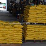 สีเทอร์โมพลาสติกสีเหลือง มอก.542-2549 จำนวน 2,700 ถุง ส่งไปที่ประเทศพม่า