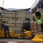 สีตีเส้นจราจรสีเหลือง จำนวน 2,700 ถุง มอก.542-2549 ส่งไปที่ประเทศพม่า
