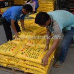 สีเทอร์โมพลาสติกสีเหลือง TRI-STAR มอก.542-2549 จำนวน 2,700 ถุง ส่งไปที่ประเทศพม่า