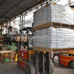 สี thermoplasticสีขาว จำนวน 1,000 ถุง ส่งไปที่เมืองเมียวดี ประเทศพม่า