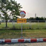 กระจกโค้งจราจร และป้ายเตือนระวังรถทางแยก บริษัท โตโยต้า มอเตอร์ ประเทศไทย จํากัด โรงงานบ้านโพธิ์