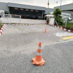 ตีเส้นจราจร และทาสีขอบทาง บริษัท โตโยต้า มอเตอร์ ประเทศไทย จํากัด โรงงานบางปะกง