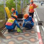 การติดตั้งสัญญาณไฟกระพริบ SOLAR CELL บริษัท โตโยต้า มอเตอร์ ประเทศไทย จํากัด โรงงานบางปะกง