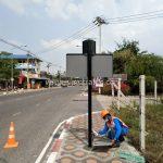 การติดตั้งสัญญาณไฟกระพริบโซล่าร์ เซลล์ บริษัท โตโยต้า มอเตอร์ ประเทศไทย จํากัด โรงงานบางปะกง