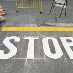 ตีเส้นจราจร บริษัท โตโยต้า มอเตอร์ ประเทศไทย จํากัด โรงงานบางปะกง