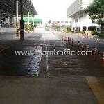 ติดตั้งป้าย โคมไฟกระพริบ และตีเส้น บริษัท โตโยต้า มอเตอร์ ประเทศไทย จํากัด โรงงานบางพลี