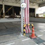 กระจกโค้งชนิดอะคริลิค ติดตั้งทีี่บริษัท โตโยต้า มอเตอร์ ประเทศไทย จํากัด โรงงานบางพลี