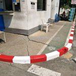 ทาสีขอบทาง ขาว-แดง บริษัท โตโยต้า มอเตอร์ ประเทศไทย จํากัด โรงงานบางพลี