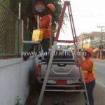 การติดตั้งสัญญาณไฟกระพริบ SOLAR CELL บริษัท โตโยต้า มอเตอร์ ประเทศไทย จํากัด โรงงานแบริ่ง