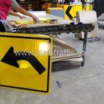 ป้ายเตือนทางโค้งซ้าย ต.1 (Left bend sign) ส่งออกประเทศพม่า