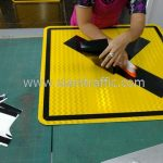 Cross road warning sign export to Yangon Myanmar
