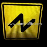 Double bend to right and to left warning sign export to Yangon Myanmar