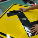 Right turn first general warning sign export to Yangon Myanmar