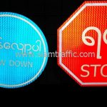 Slow down sign and Stop sign import from Bangkok