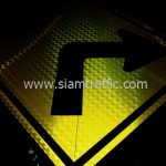 Sharp right turn warning sign export to Yangon Myanmar