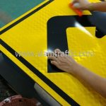 Sharp right turn traffic warning sign import from Thailand