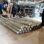 เสา guardrail 2 เมตร ส่งไปอำเภอสองพี่น้อง จังหวัดสุพรรณบุรี จำนวน 51 ต้น