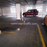 ตีเส้นที่จอดรถ ที่บ้านกลางกรุง สยาม-ปทุมวัน