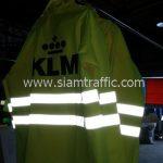 ขายเสื้อกันฝน สกรีนโลโก้ KLM
