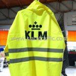 เสื้อกันฝนผู้ใหญ่ สกรีนโลโก้ KLM