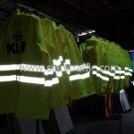 เสื้อกันฝน สกรีนโลโก้ KLM (เค.แอล.เอ็ม รอยัล ดัทช์ แอร์ไลนส์)