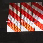 สติ๊กเกอร์สะท้อนแสงจราจร ลายเฉียงสีขาว ขนาด 20x60 เซนติเมตร