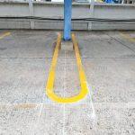 ตีเส้นช่องจอดรถ ที่บริษัท ยูนิลีเวอร์ ไทย โฮลดิ้งส์ จำกัด (โรงงานเกตเวย์ จังหวัดฉะเชิงเทรา)