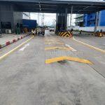 งานตีเส้นจราจร ที่โรงงานคาราบาวแดง จังหวัดฉะเชิงเทรา ปริมาณงาน 204 เมตร