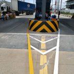 ตีเส้นจราจร มาตรฐาน ที่โรงงานคาราบาวแดง จังหวัดฉะเชิงเทรา